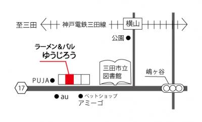 ラーメン&バルゆうじろうmap