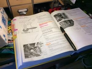 作業前に熟読し、作業中はボルト径などを確認するだけ