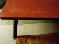 昭和模様の折りたたみテーブル