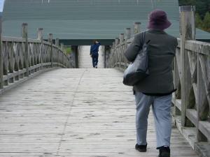 日本一なが〜い木の橋を渡る