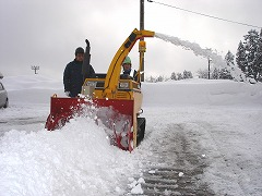 小形除雪機の操作訓練