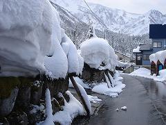 積雪量は多いです!