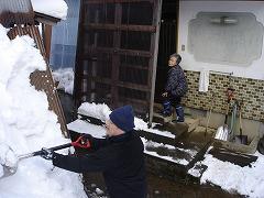一人暮らしのお宅の除雪をお手伝い