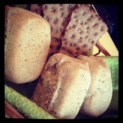 北欧レストランのパン