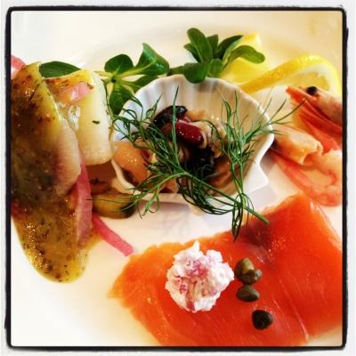 北欧レストランの前菜