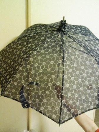 紅梅の日傘