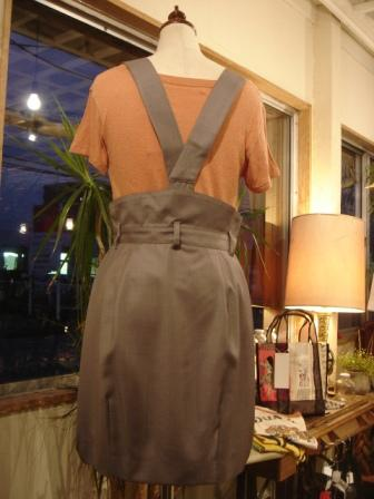 CORTES WORKS  ◇  ハイウエスト・サスペンダースカート ¥14700