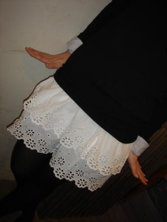 original  ◆ 2WAYコットンスカート《white・navy》 ¥6195