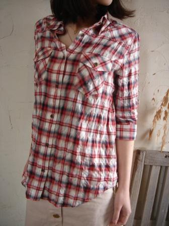 my Dartagnanチェックシャツ