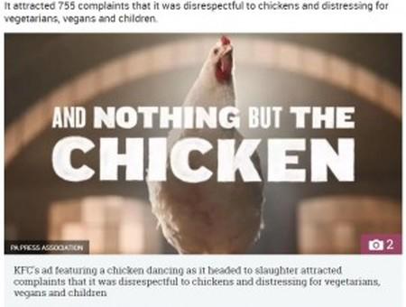 英放送の最も不愉快なCM、2017年度でKFCが1位に(画像は『The Sun 2018年2月1日付「CLUCKIN\u0027 HELL The ten  most complained about adverts of 2017 revealed \u2015 with