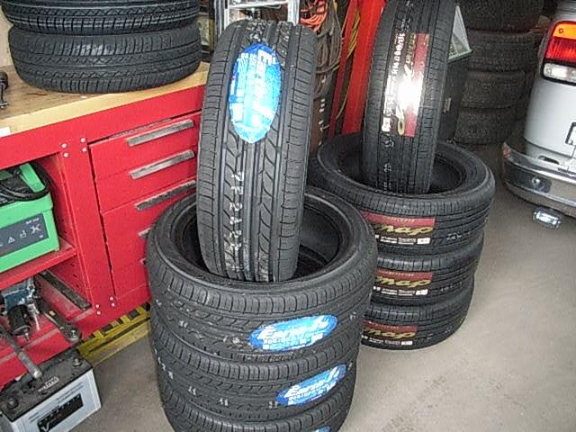 タイヤがいっぱいです。