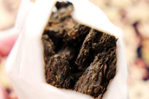 15年間熟成した本物のプーアル茶。