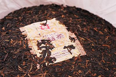 大益のプーアル茶