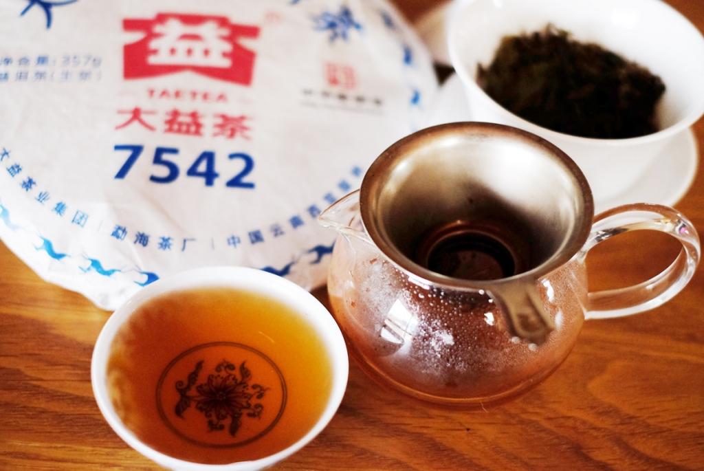 2018年7542プーアル茶