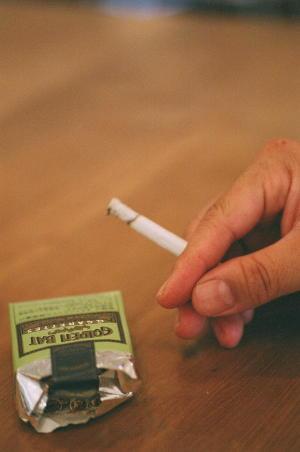 タバコで一服