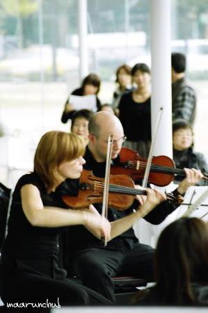 21世紀美術館で演奏会
