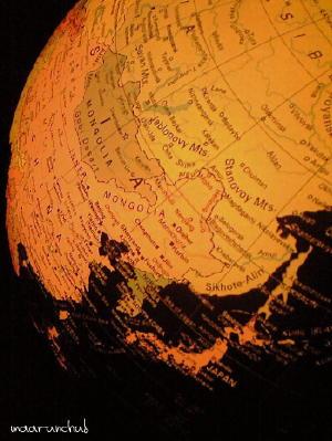 地球儀のなかのNIPPON