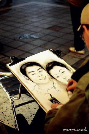 台北で似顔絵