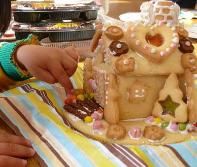 お菓子の家 子育てサークルクリスマス会