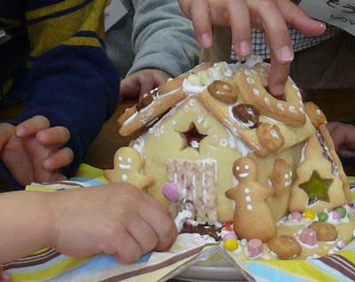 手作りお菓子の家 クリスマス会