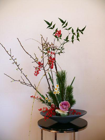 お正月用生け花