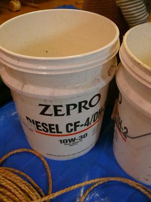 門松の作り方ペール缶