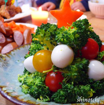 クリスマス料理ブロッコリーのポテトサラダ