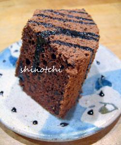 ココアシフォンケーキの作り方 レシピ
