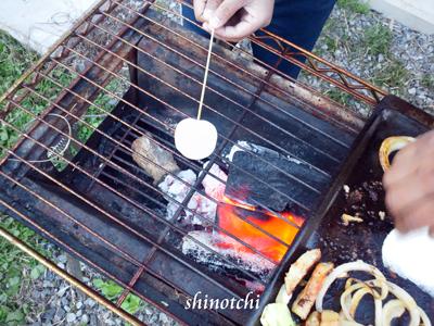 バーベキュー アウトドアクッキング 焼きマシュマロ