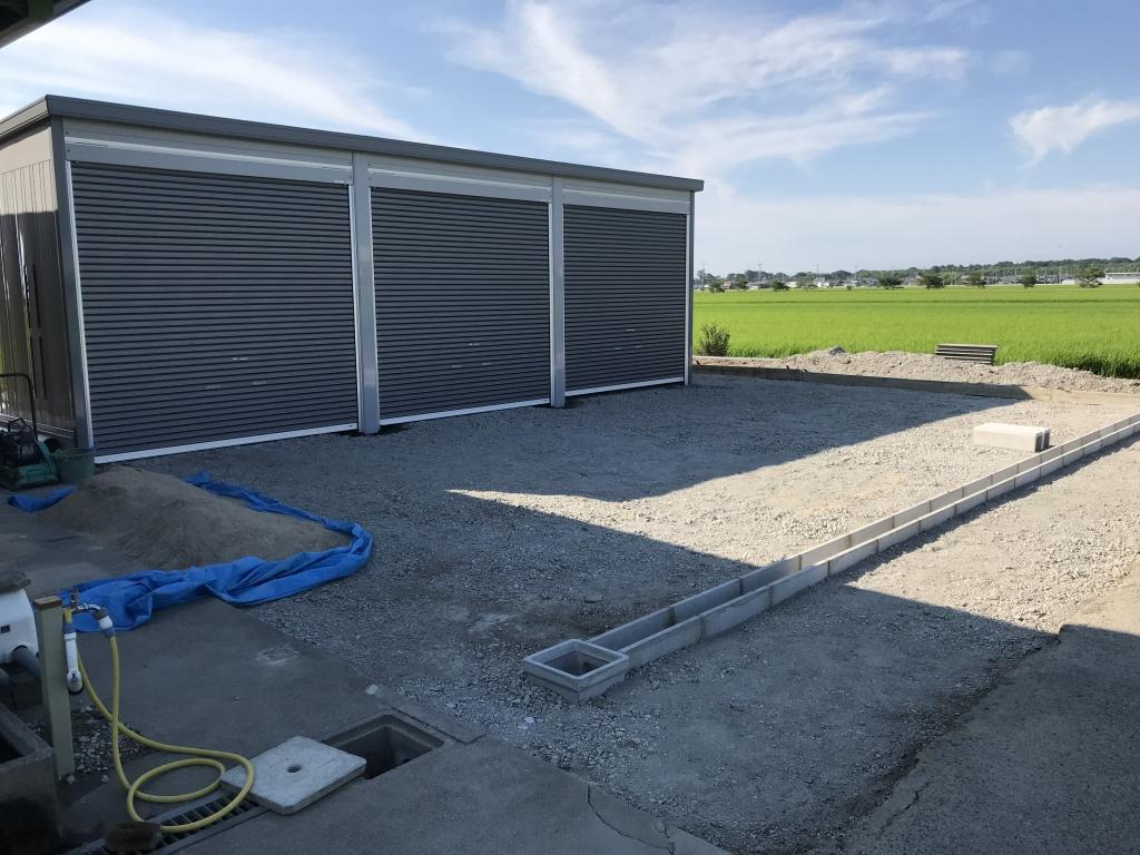 イナバ車庫完成2