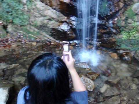 高座の滝撮影中