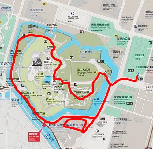 姫路城ウォーキングマップ