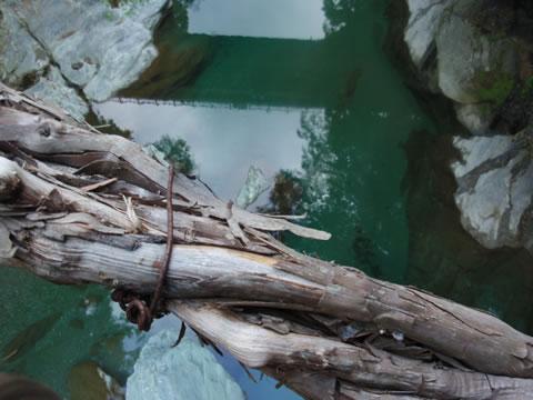 かずら橋から見た川