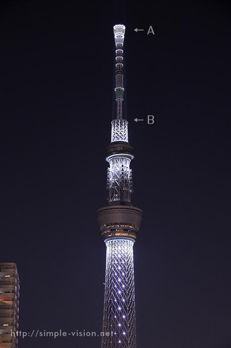 東京スカイツリー・ゲイン塔拡大