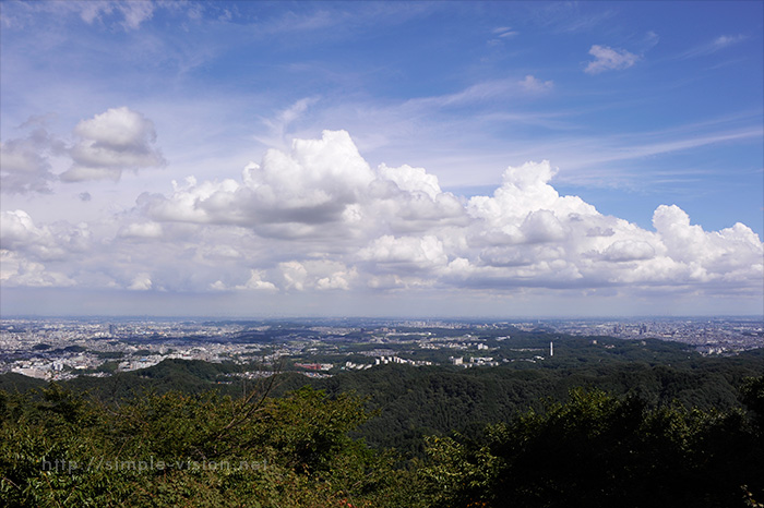 高尾山展望台からの眺望