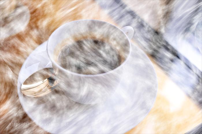 コーヒーと湯気合成2