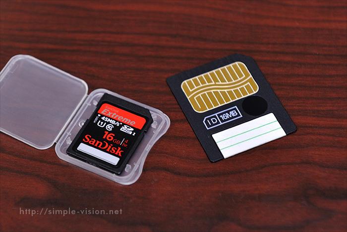 スマートメディアとSDカード