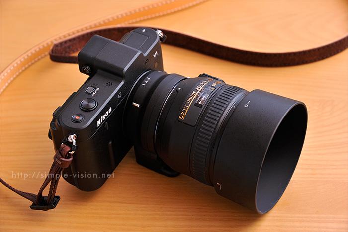 Nikon1V1+FT1+50mm単焦点レンズ