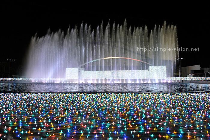 光と音と噴水のイルミネーションショー「パリ・モナムール」6