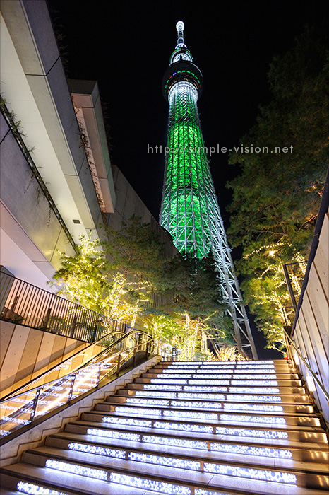 東京スカイツリー「ホワイトツリー」