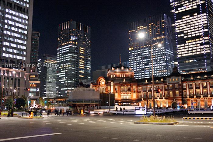 東京駅丸の内口夜景