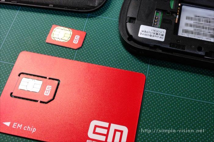 GP02のSIMカード(EM chip)挿し替え