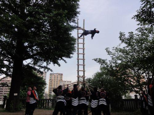 梯子乗り稽古2