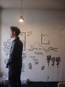 薮氏と壁画