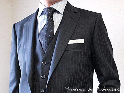 御友人様の結婚式 披露宴ご出席用スーツの着こなし 兵庫県在住o様