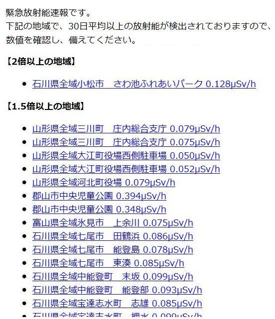 放射能速報メール
