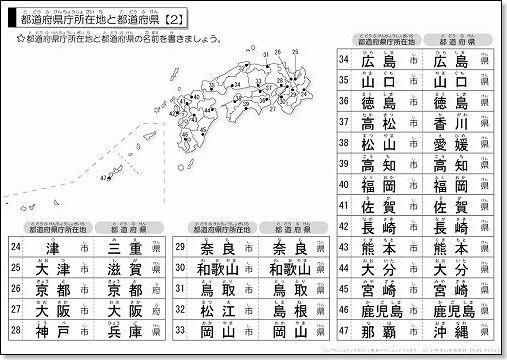 都道府県と県庁所在地のテスト ...