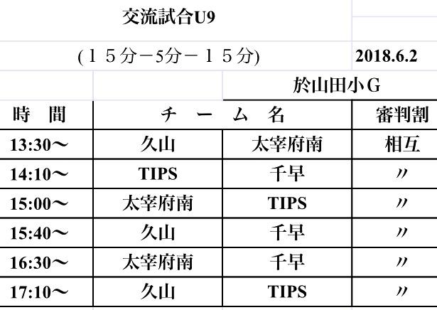 6/2(土) U-9TRM