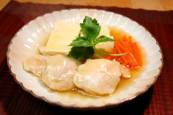 ささみと豆腐のふわとろ煮